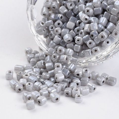 Seed Beads Cube - 6/0 - Grey Pearl - 50g